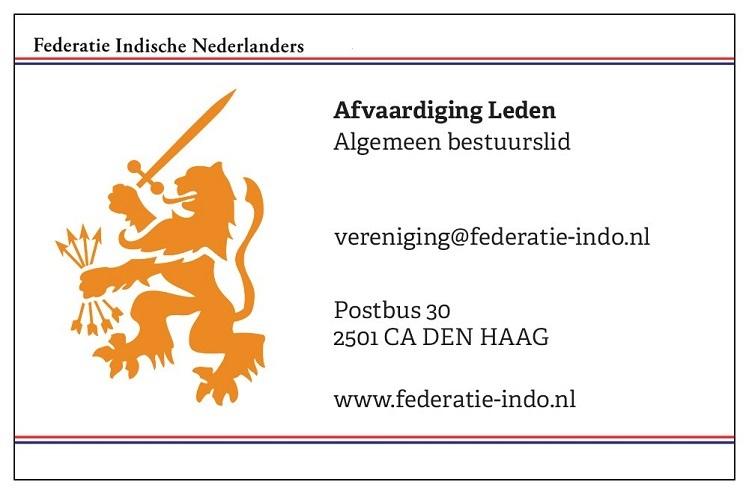 Afvaardiging Leden - © Federatie Indische Nederlanders