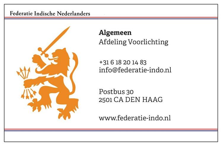 Contact - © Federatie Indische Nederlanders
