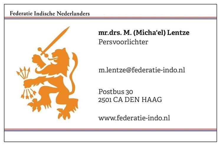 """mr. drs. M. (Micha'el """"Misha"""") Lentze - © Federatie Indische Nederlanders"""