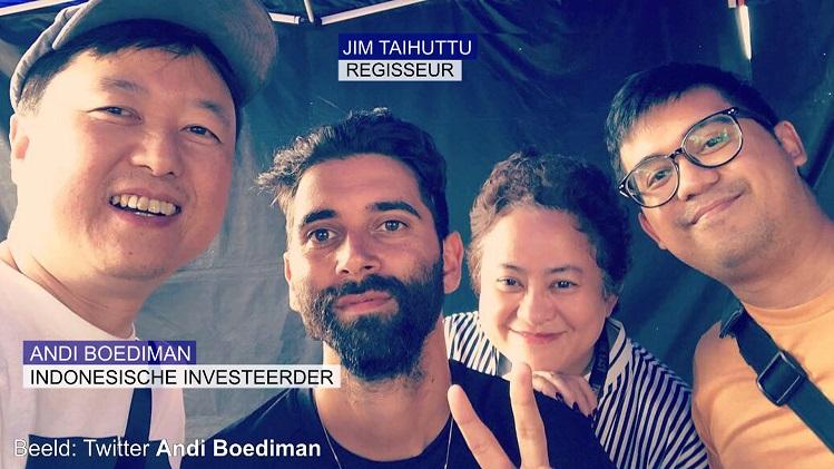 Andi Boediman en Jim Taihuttu op set De Oost - © Federatie Indische Nederlanders