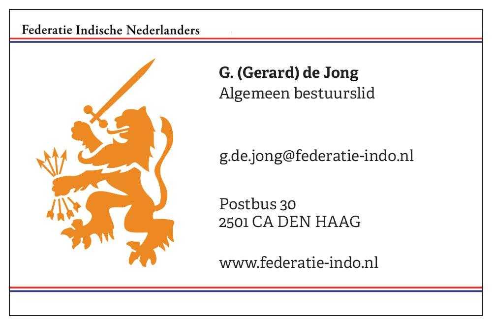 G. (Gerard) de Jong - © Federatie Indische Nederlanders