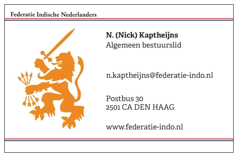 N. (Nick) Kaptheijns - © Federatie Indische Nederlanders